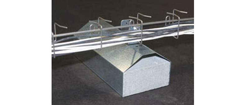Snake Foot Ballasted Roof Mount Anchor For Cable Trays And Conduit Snake Tray